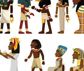 Egypt characters vector