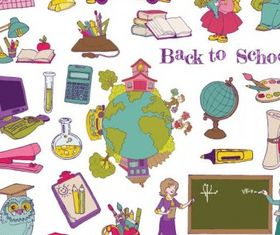 cartoon school theme graphics 1 vector