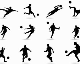 Soccer Silhouette vectors graphic