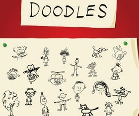 Children Art Doodles vector