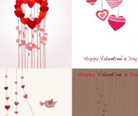 romantic valentine day greeting card vector design