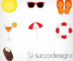 Free Summer Icon Set design vectors