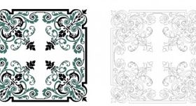 Square ornament free vector