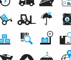 Logistics and Shipping Icons art creative vector