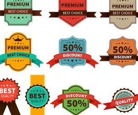 Sale Labels and Stickers art Illustration vector