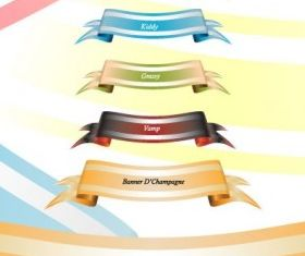 Theme Colored Banner Set vector