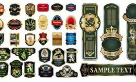 variety european label vector