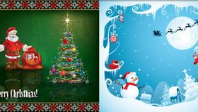 Christmas Backgrounds 6 vector
