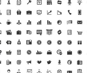 Different Silhouette Icons 5 vector graphics