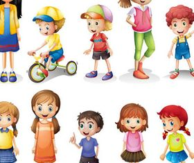 Cute Funny Children vectors