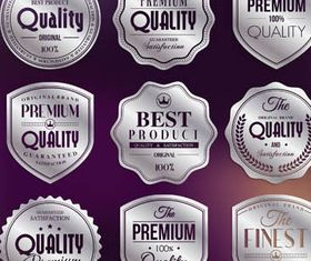 Different Quality Badges Illustration vector
