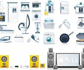 kitchen appliances vectors graphics