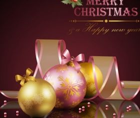 christmas decoration elements 01 vector
