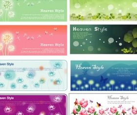 flowering plants banner vector material