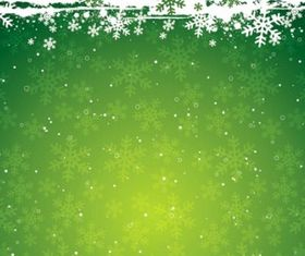 Christmas Theme Background and Snowflake Vector