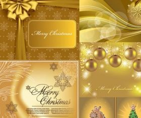 Christmas golden background vectors graphics