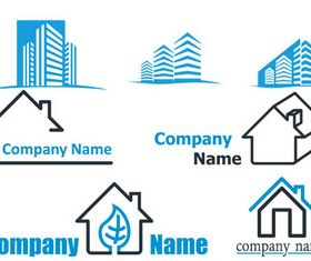 Real Estate Logotypes Vector Material