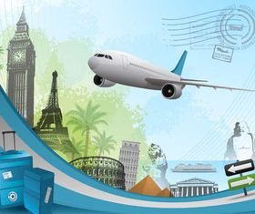 Travel Backgrounds 7 vector graphic