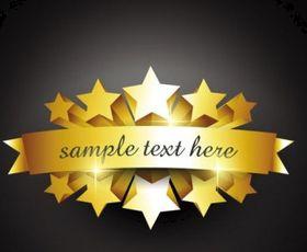 gold badge labels 07 design vector