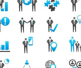 Businessman Icons Mix 5 vector