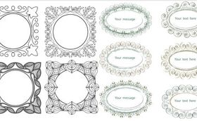 Decorative Vintage Frames 4 vector set