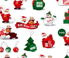 Christmas Symbols Mix 1 vector graphics