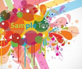 Abstract Colorful Design Background creative vector