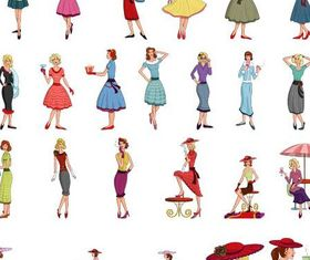 Women Set 2 vectors