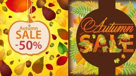 Autumn Sale Backgrounds 2 vector
