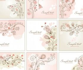 handpainted background pattern 01 vectors