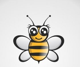 Free Bee Logo Black-Gold shiny vector