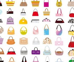 Set Woman Bags vector graphic