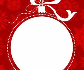 Christmas ball frame Illustration vector