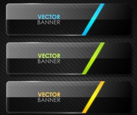 black cool banner 04 vector