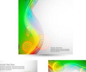 green card template 03 vectors material