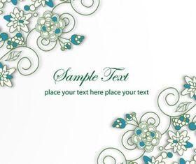 Blue Floral Background Illustration vectors graphic