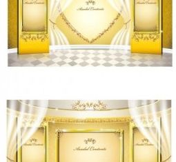 stage gold pattern vectors
