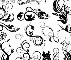 Floral Ornaments Elements 6 design vectors