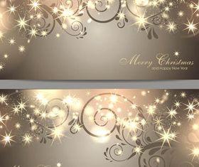 Shiny Christmas Banners 2 vector