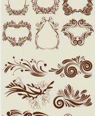 classic lace pattern vectors graphics