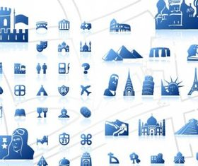 blue map symbol vector graphics