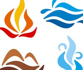 Creative Nature Logotypes vector