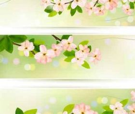 flower green banner background vectors