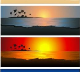 beautiful coastal scenery 02 vectors graphics