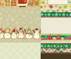 lovely christmas element vectors graphic