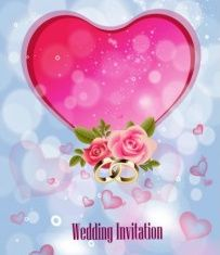 Wedding Invitation Background vector