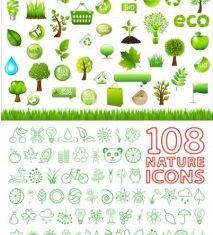 and environmental protection green vector set
