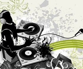 music and fashion pattern elements vector