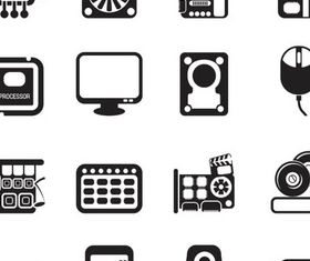 Computers Icons Mix vector