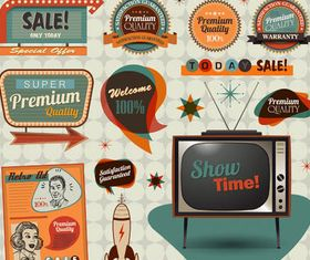 Retro Sale Elements design vector